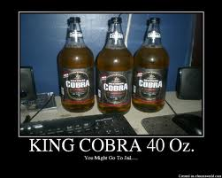 King Cobra Beer Sign Stretch Time  Time For A Beer